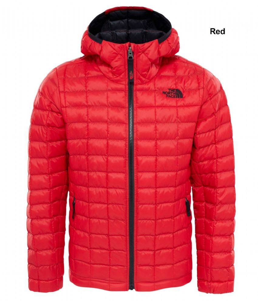 2bc46f0e49f4 The North Face Boys Thermoball Hoodie Jacket - Warm Synthetic - Red or Black